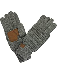 CC Exclusives Women Solid Ribbed Glove With Smart tips (G-20)