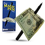 Magic Makers Pen Trick, Original, Easy Pen Thru Dollar Bill Penetrating Trick