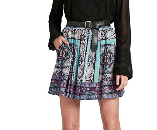 Lucky Brand - Women's - Moroccan Tile Paisley Border Scarf Print Pull-on Skirt (Small) ()