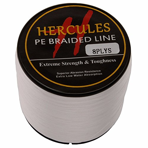 HERCULES 1000m 1094yds White 10lbs-300lbs Pe Braid Fishing Line 8 Strands (40lb/18.1kg 0.32mm)
