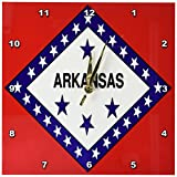 3dRose dpp_45058_1 State Flag of Arkansas Wall Clock, 10 by 10-Inch For Sale