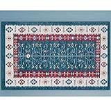 GHGMM Kitchen Strip Carpet, Household Bedroom Water Absorption Non-Slip Mat, Machine Washable Foot Pad Door Mat,Blue,50180Cm