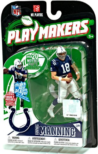 Indianapolis Colts Figurine (McFarlane Toys Indianapolis Colts Peyton Manning Playmakers Series 1 Action Figurine)