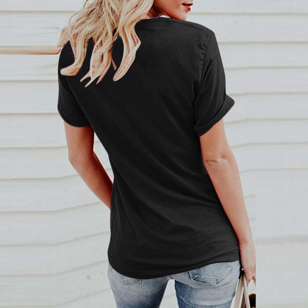 Maglietta Donna Maniche Corte BANAA Top Donne Camicetta Elegante con Stampa Camicia Ragazza Estate Camicie Moda Estive Magliette Carino Slim Fit T-Shirt Maglie Blusa