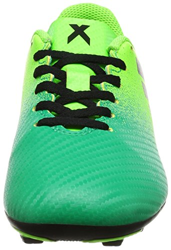 Adidas X 16.4 FXG J, Scarpe per Allenamento Calcio Unisex – Bambini, Verde (Versol/Negbas/Verbas), 38 EU