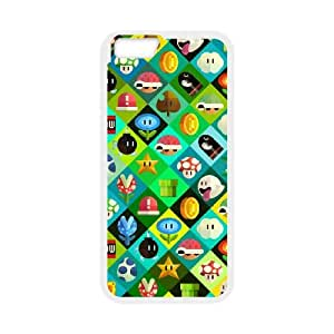 Super Mario Bros iPhone 6 4.7 Inch Cell Phone Case WhiteW4519453