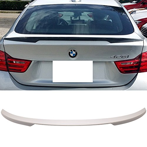 Trunk Spoiler Fits 2014-2018 BMW F36 4 Series | P Style ABS Rear Tail Lip Deck Boot Wing Other Color Available By IKON MOTORSPORTS | 2015 2016 ()