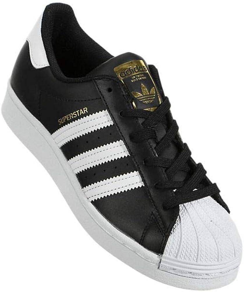 adidas Originals Damen Superstar Turnschuh Kern Schwarz Weiß Gold Metallic