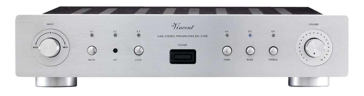 Vincent Audio - SA31 MK Hybrid Stereo Preamplifier - Silver by Vincent Audio