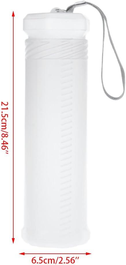 GROOMY Estuche de lápices Delgado y Transparente para Cilindro Portátil de plástico Ajustable