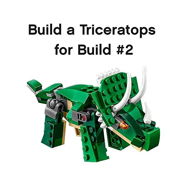 LEGO Creator Mighty Dinosaurs 31058 Build It Yourself Dinosaur Set, Create a Pterodactyl, Triceratops and T Rex Toy (174…
