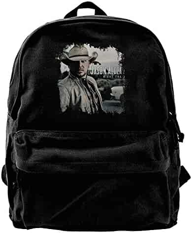 1b8675d3a751 WilliamWButler Jason Aldean Night Train Canvas Backpack Mens Women Fashion  Book Bag Messenger Bag Black