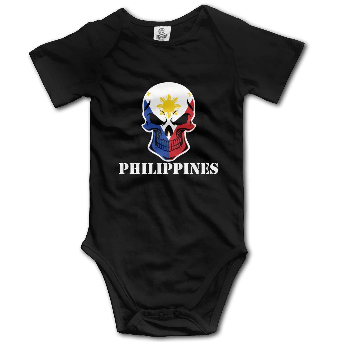 FOECBIR Philippines Skull Baby Boys Girls Jumpsuit Short-Sleeve Romper Bodysuit