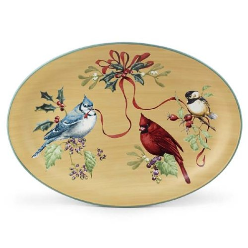 Lenox Winter Greetings Everyday Large Oval Platter by Lenox