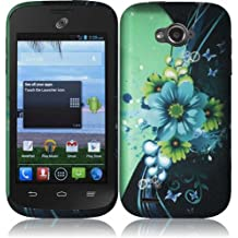 Warrior Wireless (TM) For ZTE Savvy Z750C Rubberized Design Cover Case - Sublime Flower + Bundle = (ITEM + CELLPHONE STAND) - By TheTargetBuys