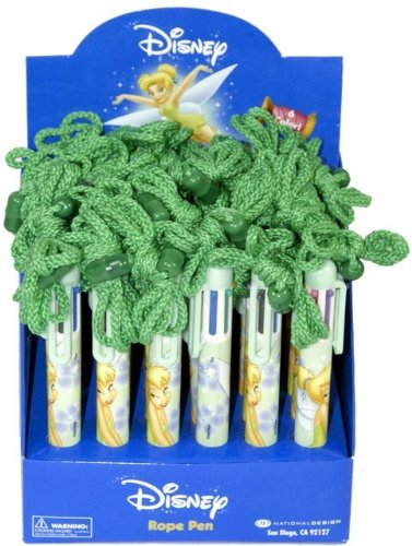 (Tinkerbell Multicolor Rope Pen (30pcs Case Lot))