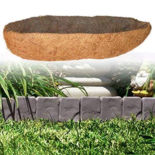 (Dailyfun Long Arc Shape Coco Fiber Replacement Liner,Coco Fiber Mat,Wall Planter Coco Fiber Replacement Liners for Wall Hanging Baskets Coco Liner Bulk Roll Ideal)