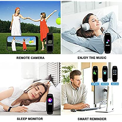 Activity Tracker, Fitness Tracker with Heart Rate Monitor,5ATM Water Resistance HD Touch Screen Smart Watch,Sleep… 6