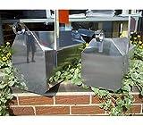 The Dutchbarn Handmade Stainless Steel Mailbox LARGE