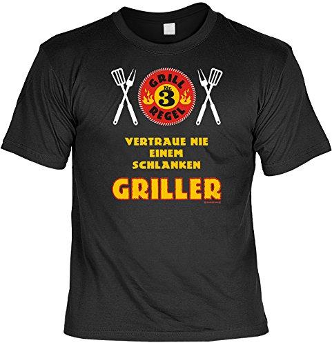 Grillen Grill Grillkohle Koch Party Motiv: Vertrau nie einem schlanken Griller (T-Shirt)