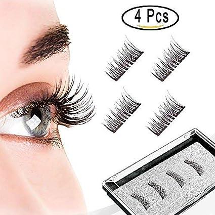 Largo Pestañas Magnéticas, Dual Magnetic Eyelashes, Pestañas Postizas Magnéticas Ultra Fino de 0,