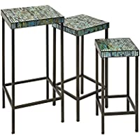 IMAX 96104-3 Aramis Mosaic Glass Tables - Set of 3