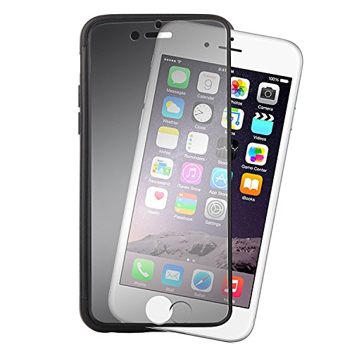 ChannelExpert schwarz/klar Frost Buch PU Cover Etui Schutzhülle Tasche Handyschale Case Handytasche Handyhülle für Apple iPhone 6