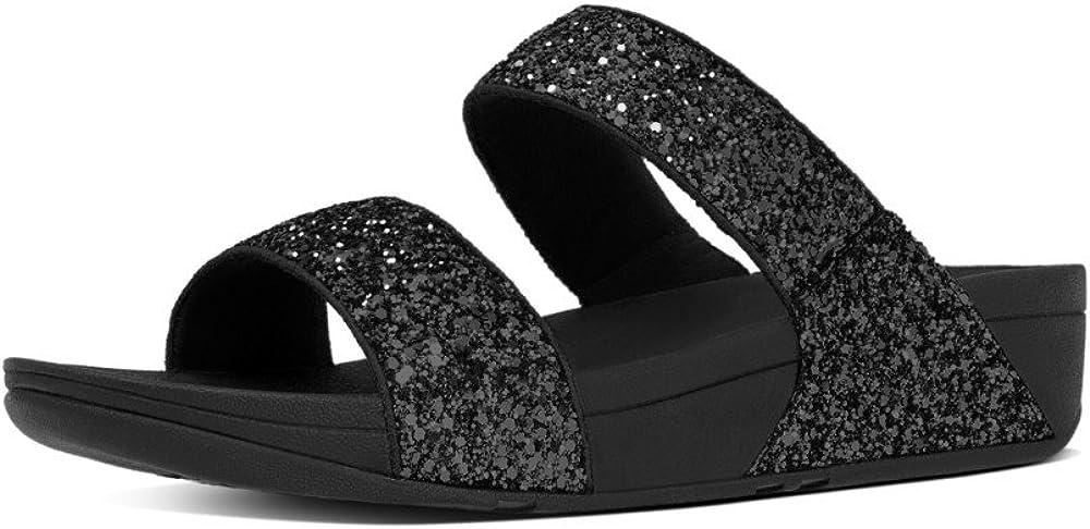 FitFlop Glitterball Slide, Sandalias con Plataforma para Mujer