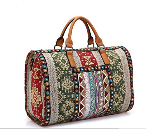 Embroidered PINCHU Large Linen Ladies Tote Ladies PINCHU Handbag Hippie 6fp5YqZnw