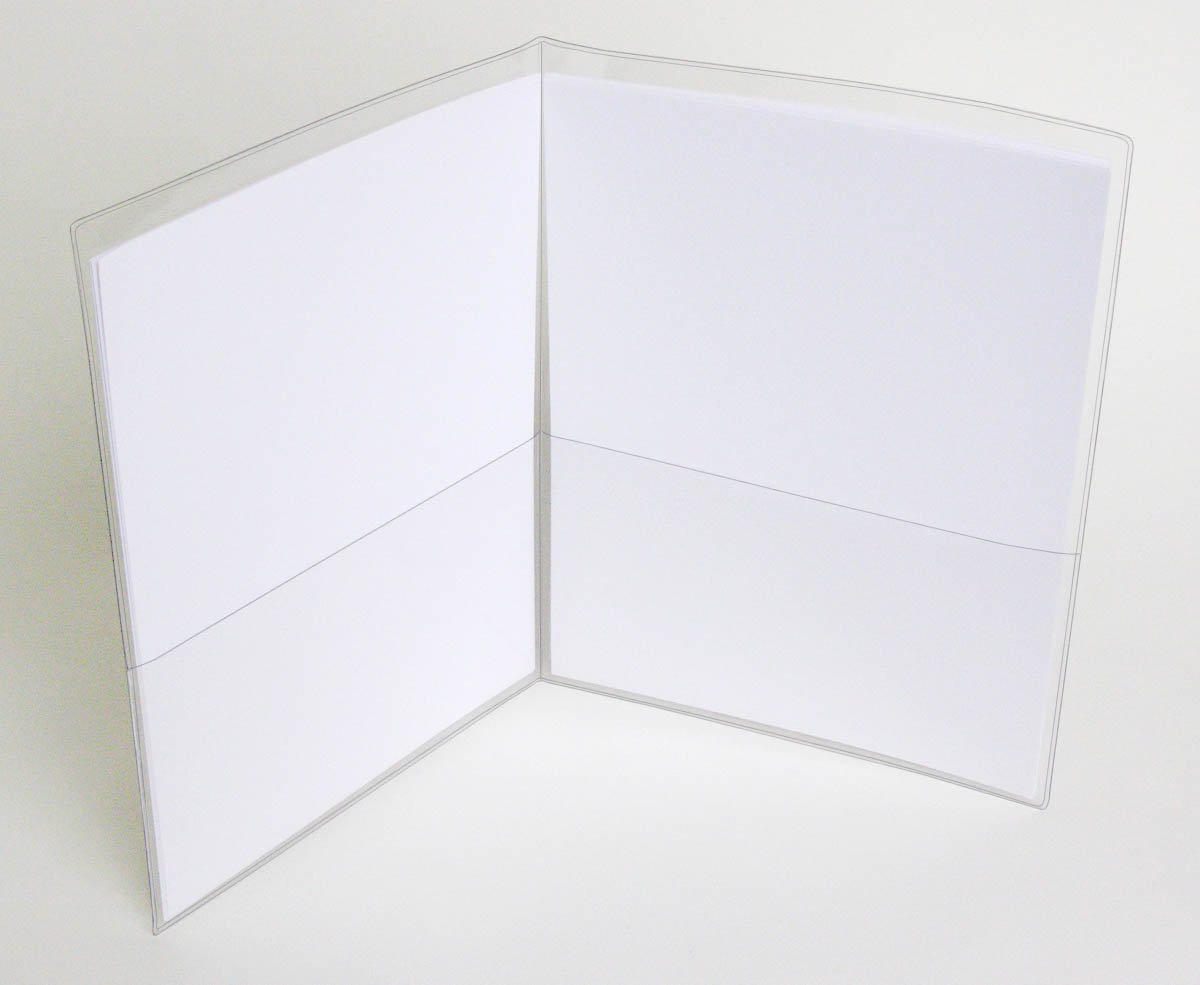 StoreSMART - Clear Vinyl Plastic Letter Size Folder with 2 pockets - 100-Pack - 9'' x 11.75'' - VH8511-100