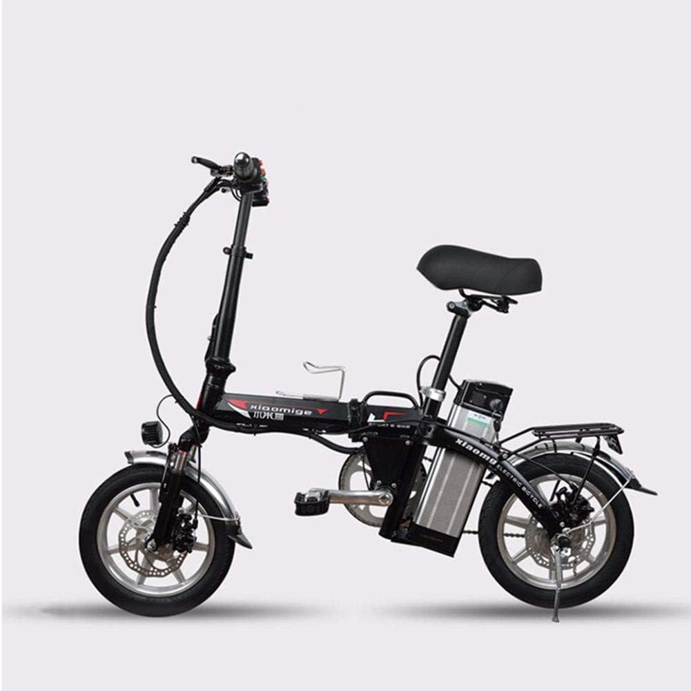 XCBY Scooter eléctrico para Adultos, Triciclo de Movilidad eléctrica, Bicicleta eléctrica Plegable y portátil, Motor máximo de 500 W, 45 km de Largo Alcance, con luz LED y Pantalla