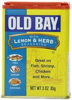 OLD BAY Lemon & Herb Seasoning, 3 oz (Case of 12)