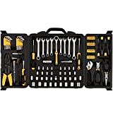 Meditool 108-Piece Tool Box Set General Household Hand Tool Kit with Plastic Toolbox Storage Case