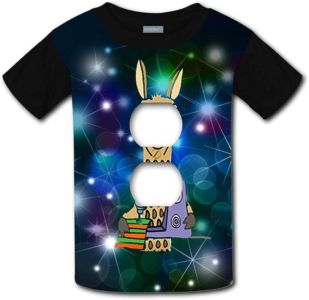 Unisex Youth 3D Cartoon Animal Theme Funny Funky Llama T Shirts Short Sleeve Kids Tee