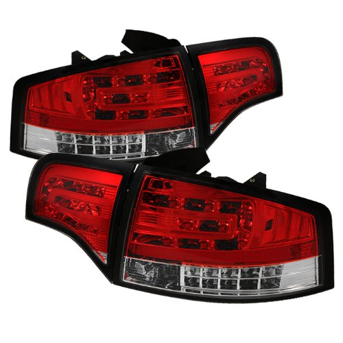 Clear Red Spyder Housing - Spyder Auto Audi A4 Red Clear LED Tail Light