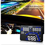 "YICOTA Car HUD GPS Head Up Display 5.5"" Colorful LED Dashboard Projector Speed Warning System Compatible with All Cars (Q7)"