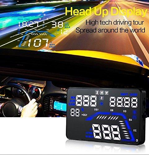 YICOTA Auto HUD GPS Head Up Display 5, 5 'Bunte LED Armaturenbrett Projektor Geschwindigkeit Warnsystem Kompatibel mit allen Autos (Q7) 5 Bunte LED Armaturenbrett Projektor Geschwindigkeit Warnsystem Kompatibel mit allen Autos (Q7) EA1865