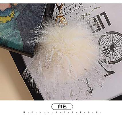 Amazon.com: Key Chains - Fluffy Fake Fur Pompom Keychain ...
