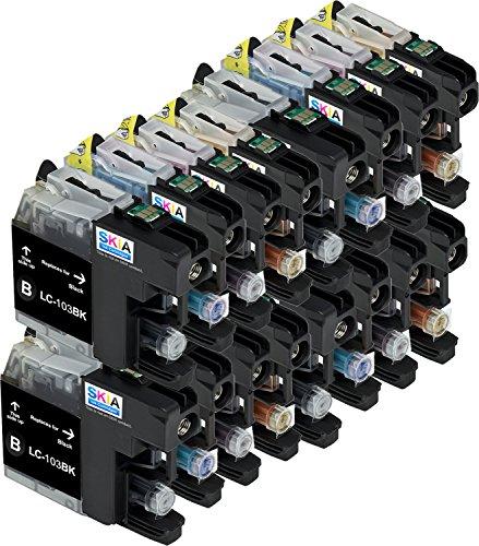 Skia HIGH LC-103 DCP J152W MFC J245 J285DW J4310DW J4410DW J450DW J4510DW J4610DW J470DW J4710DW J475DW J650DW J6520DW J6720DW J6920DW J6920DW J870DW J875DW CompatbIble Brother Ink Cartridges (16 Pack ()