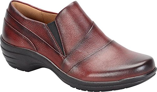Comfortiva Sebring Ronde Teen Lederen Loafer Bordeauxrood