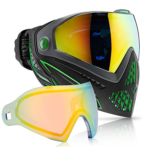 The Dye i5 Emerald with Northern Lights lens is a brilliant combination, giving you a cool, icy assasin look on the paintball field!