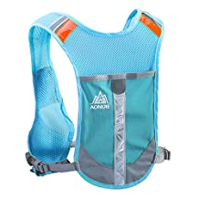 Triwonder Reflective Running Vest Hydration Vest Hydration Pack Backpack for Marathoner Running Race Cycling