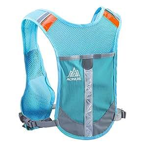 TRIWONDER Reflective Running Vest Hydration Vest Hydration Pack Backpack for Marathoner Running Race Cycling (Blue - Only Vest)