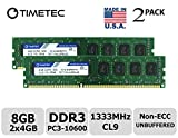 dell 8 gb memory module - Timetec Hynix IC 8GB Kit (2x4GB) DDR3 1333MHz PC3-10600 Non ECC Unbuffered 1.5V CL9 2R8 Dual Rank 240 Pin UDIMM Desktop PC Computer Memory Ram Module Upgrade (Low Density 8GB Kit (2x4GB))