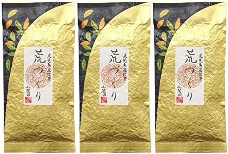 お茶の山麓園 鹿児島茶 荒づくり 100g (3個セット)