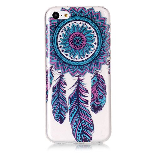 Custodia iPhone 5C , LH Blu Chimica Del Vento TPU Trasparente Silicone Cristallo Morbido Case Cover Custodie per Apple iPhone 5C