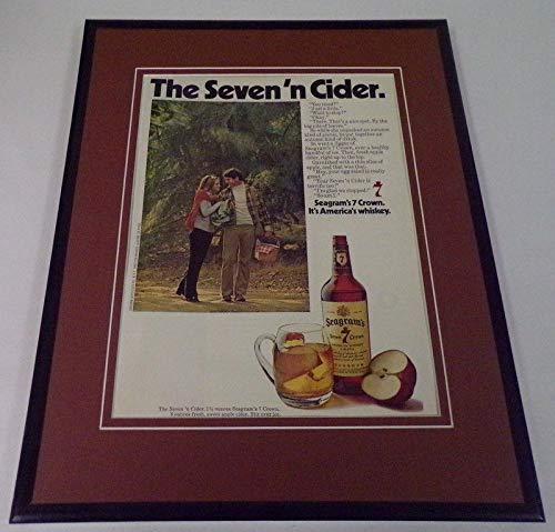 1973 Seagram's 7 Crown 11x14 Framed ORIGINAL Vintage Advertisement