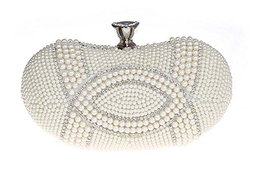 Embrague De De Duro Bolsos Del Las Partido Caso De Perla La Del Bolsa Boda Moldeadas Diamantes Imitación Mujeres De Monedero La De Señoras Blancas Del Tarde Embrague P6ztC