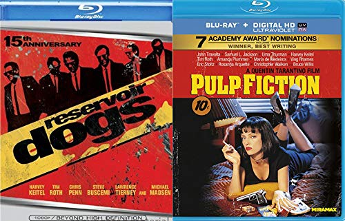 Quentin's Best Work Hands Down: Pulp Fiction (Blu-Ray/ Digital) + Limited Edition 15th Anniversary Reservoir Dogs (Blu-Ray) Bundle