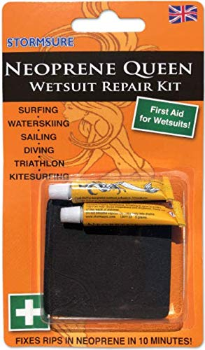 (Stormsure Neoprene Queen Wetsuit Repair Kit, Adhesive and Patches)